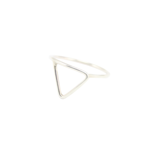 Image of Leta. Triangle Silver Ring