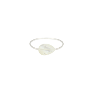 Image of Zola. White Leaf Knuckle Ring