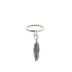 Image of Dellah. Feather Charm Ring