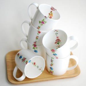 Image of Mix Posy Bone China Mug