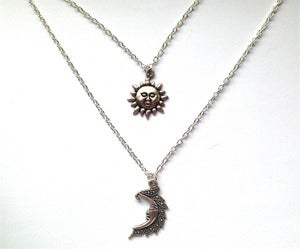 Image of Layered Sun and Moon Necklace