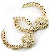 Image of LION FACE HOOP EARRINGS