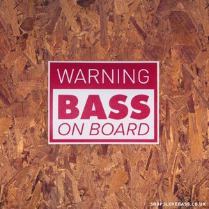 Image of Warning BASS! Sticker