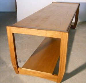 Image of Console / table basse Teck scandinave annes 60 - REF.1277
