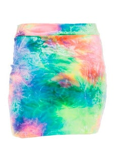 Image of COSMIC VELVET BODY-CON SKIRT