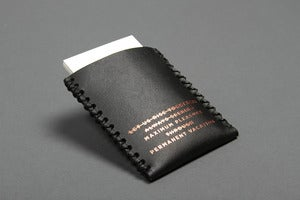 Image of Card Carry No. 01 - Black with Copper Foil