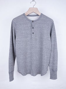 Image of Wings and Horns - Double Knit Thermal Top Grey