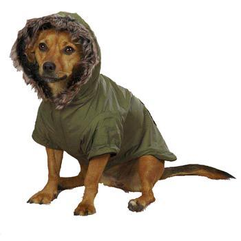 Image of Casual Canine Fur Trim Dog Parka