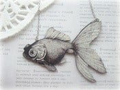 Image of Black & White Goldfish Necklace 2