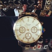 Image of Big Face Gold Watch 