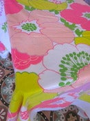 Image of Pretty Fuschia 1970s Tablecloth