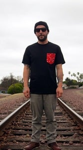 Image of Red Bandana Print Pocket Tee