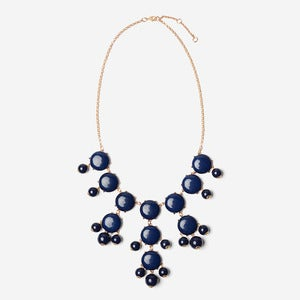 Image of Navy Bubble Necklace