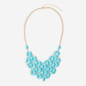 Image of Aqua Daisy Tessellate Necklace