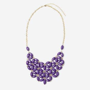Image of Plum Daisy Tessellate Necklace