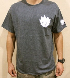 "Image of ""Blur Tee"" in Charcoal Grey"