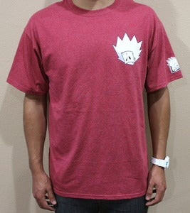 "Image of ""Blur tee"" in Ash Red"