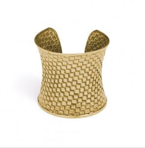 Image of Langston Matte Gold Cuff Bracelet