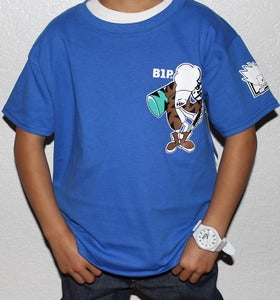 "Image of Kids ""Hammer Time Tee"" in Royal Blue"
