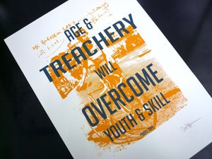 Image of Dynamoworks 'Age and Treachery Will Overcome Youth and Skill' print