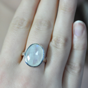 Image of Rough Faceted Moonstone Ring