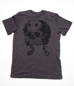 Image of Backbone Skull Helmet T-Shirt
