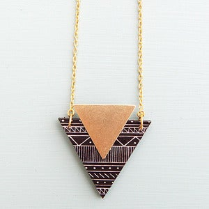 Image of Tribal Triangle Necklace by Rachel Loves Bob 