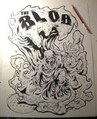 "Image of ""THE BLOB"" original inked drawing"