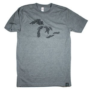 Image of Great Lakes T-Shirt Charcoal