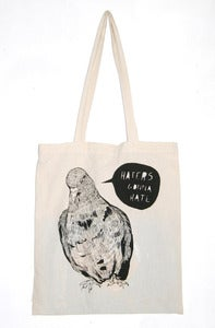Image of 'Haters Gonna Hate' Pigeon Tote