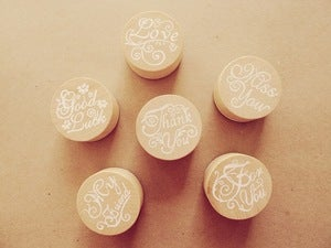 Image of Message Rubber Stamp