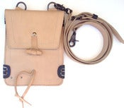Image of No.90011 travel bag. natural leather
