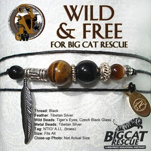 Image of Wild & Free NTIO Bracelet for Big Cat Rescue
