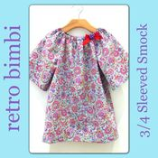 Image of Winter Smock~Pastel Paisley
