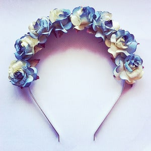 Image of Ocean Blue Flower Crown