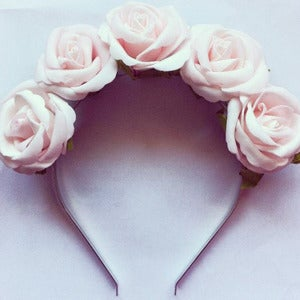 Image of Pale Pink Rosé Flower Crown