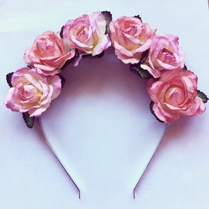 Image of Peach Melba Flower Crown