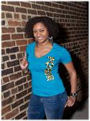 Image of Courageous Leopard (Aqua) Tee