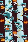 Image of Raccoons organic cotton jersey (by the half metre)