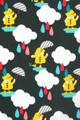 Image of Dancing in the rain organic cotton jersey (by the half metre)
