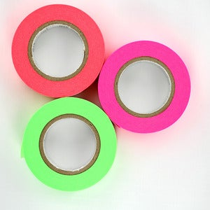 Image of Solid Color Neon Washi Tape