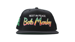 Image of REST IN PEACE BOB MARLEY SNAPBACK