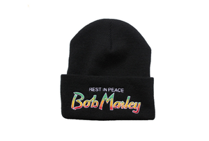 Image of REST IN PEACE BOB MARLEY BEANIE