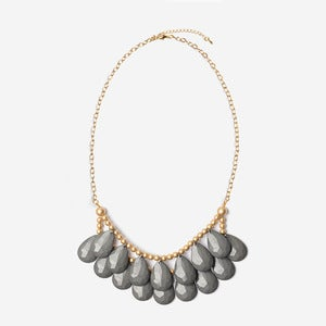 Image of Gray Briolette Necklace