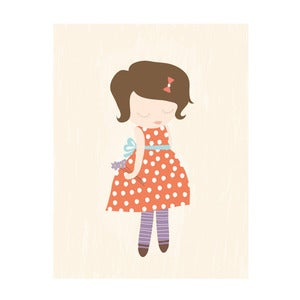 Image of 'Elsie and the lavender' Art Print