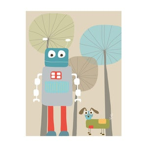 Image of Robot and Robo Dog