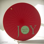 "Image of Circular ""JOY"" Holiday Card {#128}"