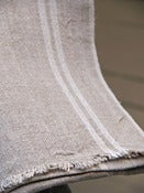 Image of Zinc/Linen range - double white striped table runner