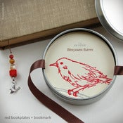 Image of Bird Personalized Bookplates + Beaded Bookmark {#311}