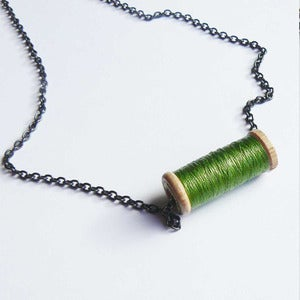 Image of Un-Reel Pendant Necklace - Lime